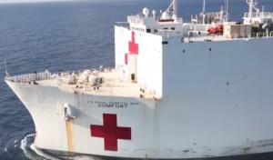 US-Krankenhausschiff USNS Comfort legt in New York an