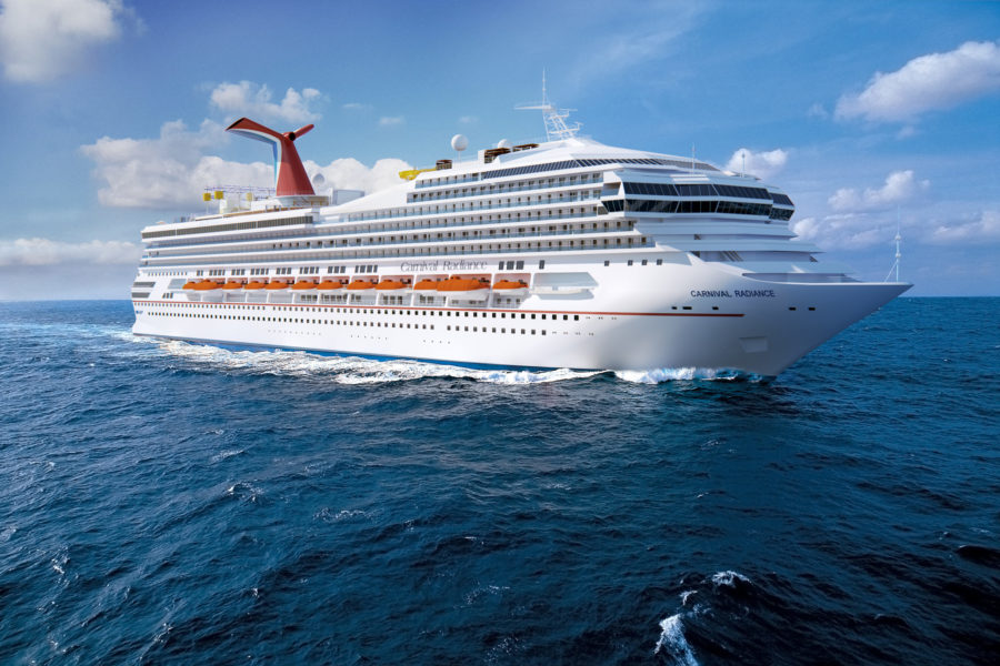 Premierenfahrt der Carnival Radiance am 29. April