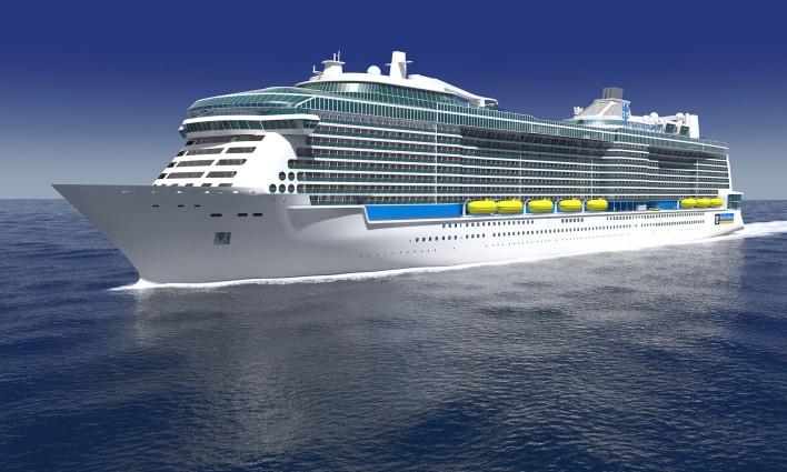 Odyssey of the Seas verlässt das Baudock: Das Ausdocken hat am Vormittag begonnen