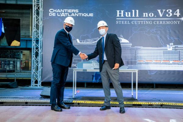 You are currently viewing Stahlschnitt der MSC Euribia: MSC Cruises setzt mit dem zweiten LNG-Schiff der Flotte sein Engagement für einen nachhaltigen Schiffsbetrieb fort
