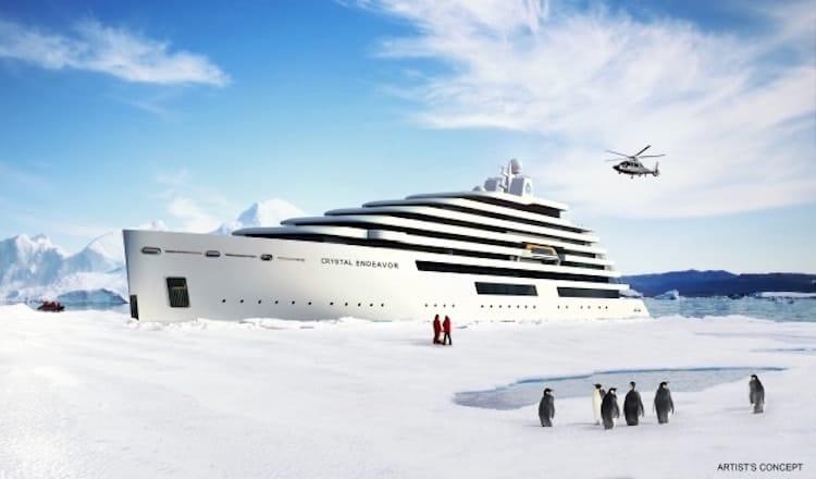 Read more about the article Crystal Endeavor verlässt MV Werften Stralsund: Luxus-Expeditionsschiff auf dem Weg nach Island